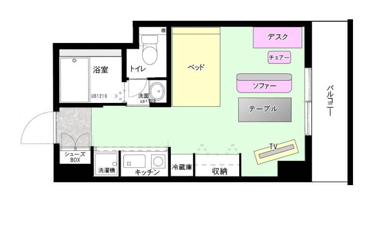 大阪 家具付きの単身赴任マンション
