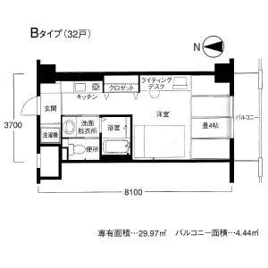 Bタイプ(クレイドル梅田)