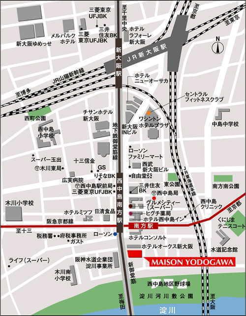 メゾン淀川-アクセスマップ