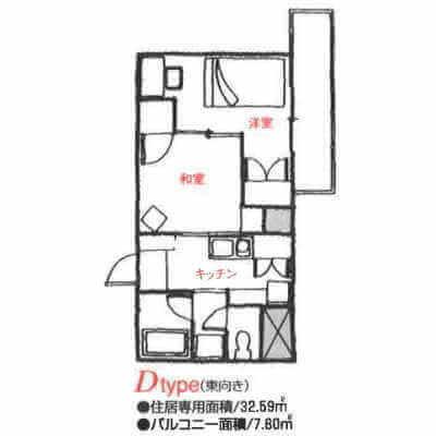 アローンズ大阪-Dタイプ(間取り)