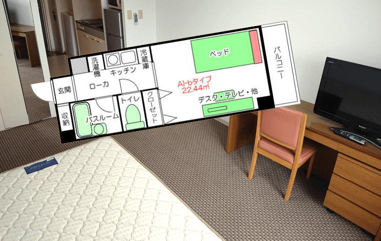 江坂の単身赴任家具付き賃貸