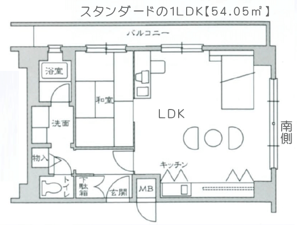 Dタイプ【畳タイプ】1LDK